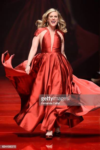 Actress Bonnie Somerville walks the runway at the American Heart Association's Go Red For Women Red Dress Collection 2017 presented by Macy's at...