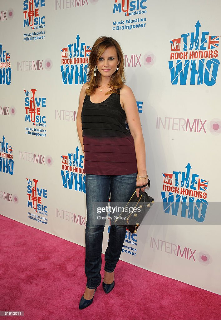 Actress Bonnie Sommerville attends Intermix's 3rd Annual 'VH1 Rock Honors' VIP Party at Intermix on July 11 2008 in Los Angeles California