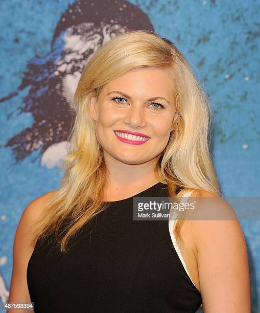 Actress Bonnie Sveen at the opening of Les Miserables at Capitol Theatre on March 26 2015 in Sydney Australia