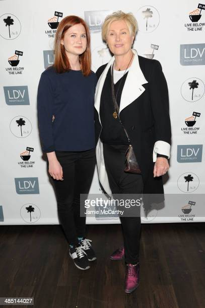 Actress Bonnie Wright and DeborraLee Furness attend the Global Poverty Project and LDV Hospitality special event kicking off the 2014 Live Below the...