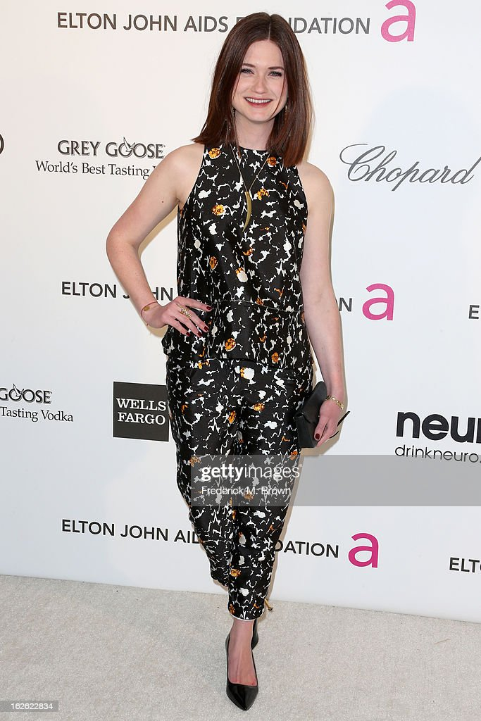 Actress Bonnie Wright arrives at the 21st Annual Elton John AIDS Foundation's Oscar Viewing Party on February 24, 2013 in Los Angeles, California.