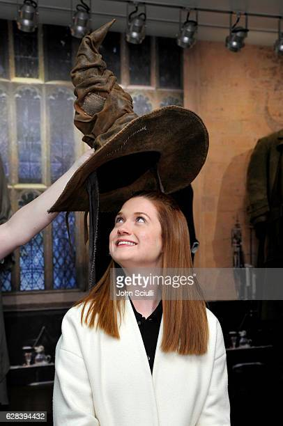 Actress Bonnie Wright attends the Harry Potter and Fantastic Beasts Exhibit launch at Warner Bros Studio Tour Hollywood at Warner Bros Studios on...