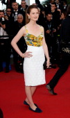Actress Bonnie Wright attends the 'On The Road' Premiere during the 65th Annual Cannes Film Festival at Palais des Festivals on May 23 2012 in Cannes...