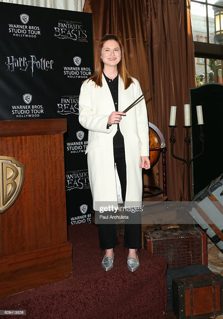 Actress Bonnie Wright attends the press preview for the exhibit showcasing the costumes and props from Warner Bros. Pictures' 'Fantastic Beasts and Where To Find Them' at Warner Bros. Studios on December 7, 2016 in Burbank, California.