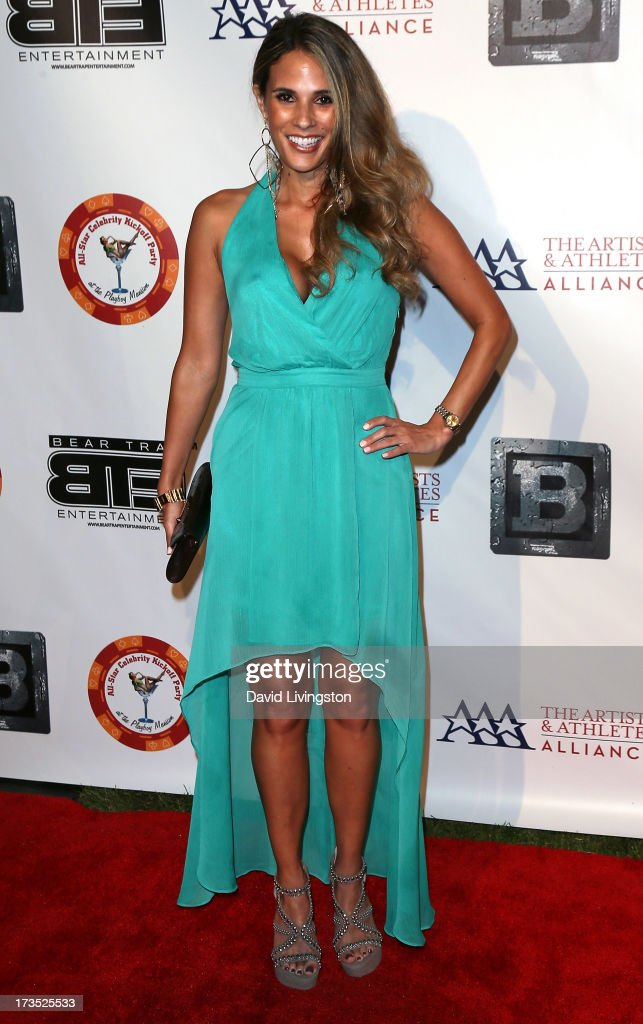 Actress Bonnie-Jill Laflin attends the 8th Annual BTE All-Star Celebrity Kickoff Party at the Playboy Mansion on July 15, 2013 in Beverly Hills, California.