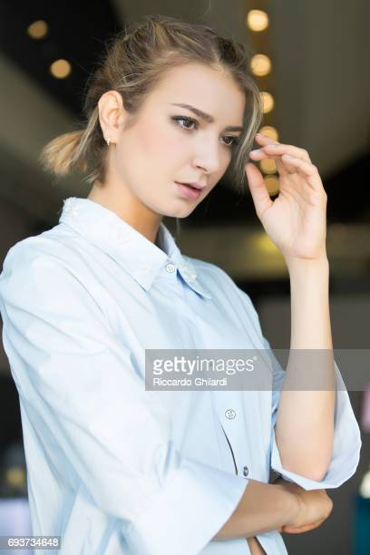 Actress Borislava Stratieva is photographed for Self Assignment on May 27 2017 in Cannes France