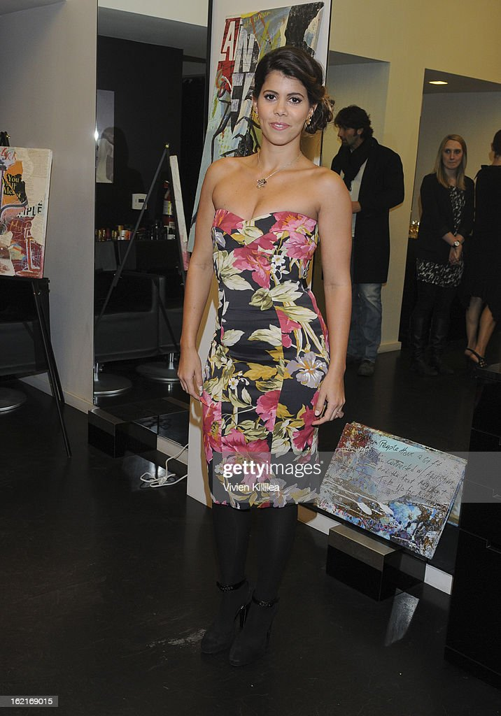 Actress Branca Ferrazo attends Art + Beauty Oscar Celebration For NYC Contemporary Artist Bobby Hill at Metodo Rossano Ferretti Hair Spa on February 19, 2013 in Beverly Hills, California.