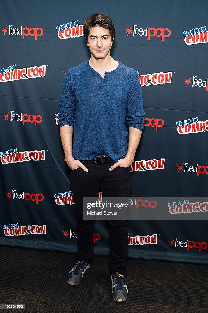 Actress Brandon Routh poses in the press room for the 'DC's Legends of Tomorrow' panel during Comic Con Day 4 at The Jacob K. Javits Convention Center on October 11, 2015 in New York City.