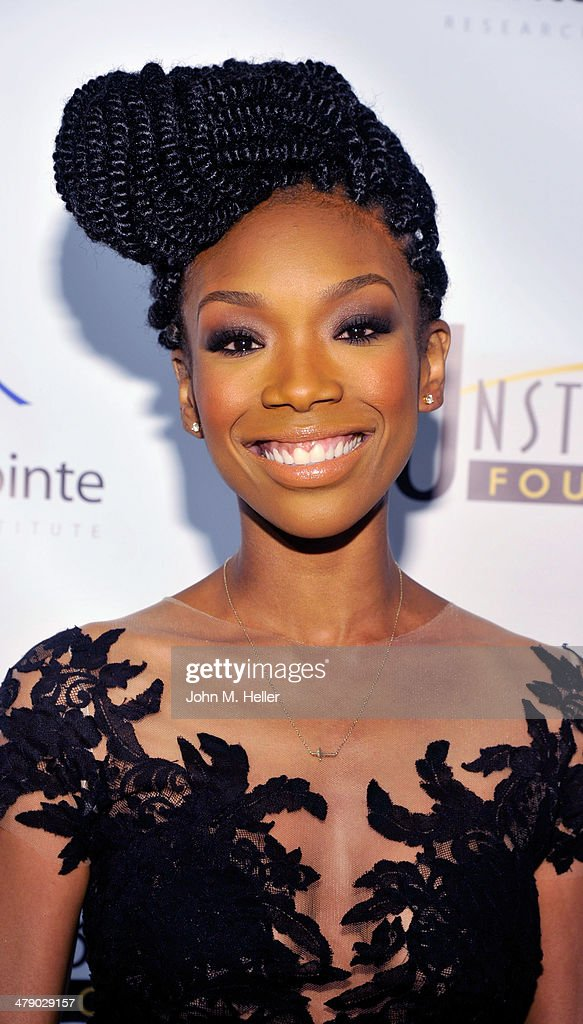 Actress Brandy attends the 5th Annual Unstoppable Gala at the Hyatt Regency Century Plaza Hotel on March 15 2014 in Century City California