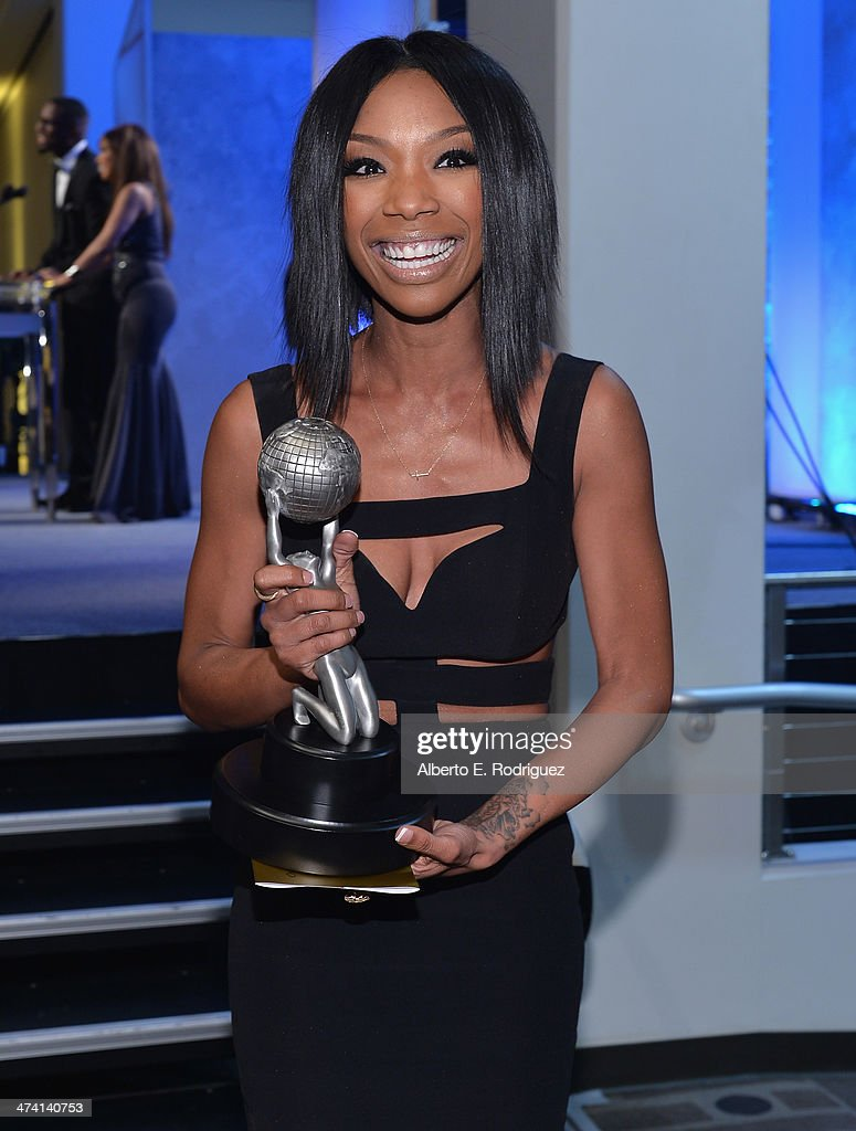 Actress Brandy Norwood attends the 45th NAACP Awards Non-Televised Awards Ceremony at the Pasadena Civic Auditorium on February 21, 2014 in Pasadena, California.