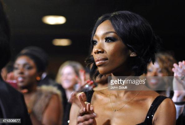 Actress Brandy Norwood attends the 45th NAACP Image Awards presented by TV One at Pasadena Civic Auditorium on February 22 2014 in Pasadena California