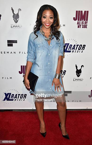 Actress Bre Sha Webb arrives at the Screening Of 'Jimi All Is By My Side' at ArcLight Cinemas on September 22 2014 in Hollywood California