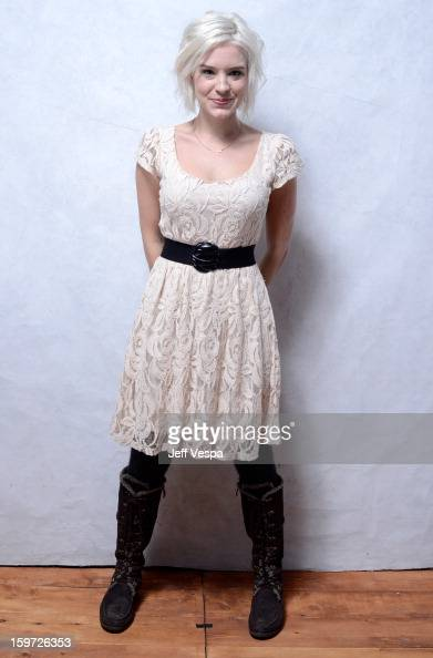 Actress Brea Grant poses for a portrait during the 2013 Sundance Film Festival at the WireImage Portrait Studio at Village At The Lift on January 19...