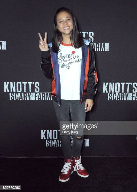 Actress Breanna Yde attends Knott's Scary Farm and Instagram's Celebrity Night at Knott's Berry Farm on September 29 2017 in Buena Park California