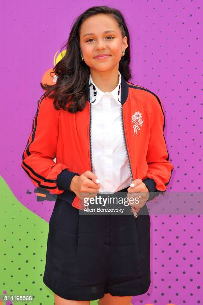Actress Breanna Yde attends Nickelodeon Kids' Choice Sports Awards 2017 at Pauley Pavilion on July 13 2017 in Los Angeles California