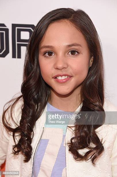 Actress Breanna Yde attends NICKSPORTS special screening and party for Little Ballers Documentary at Chelsea Piers on February 14 2015 in New York...
