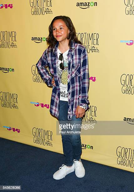 Actress Breanna Yde attends the celebration for Amazon's 'Gortimer Gibbon's Live On Normal Street' season 2 at Racer's Edge Indoor Karting on July 8...
