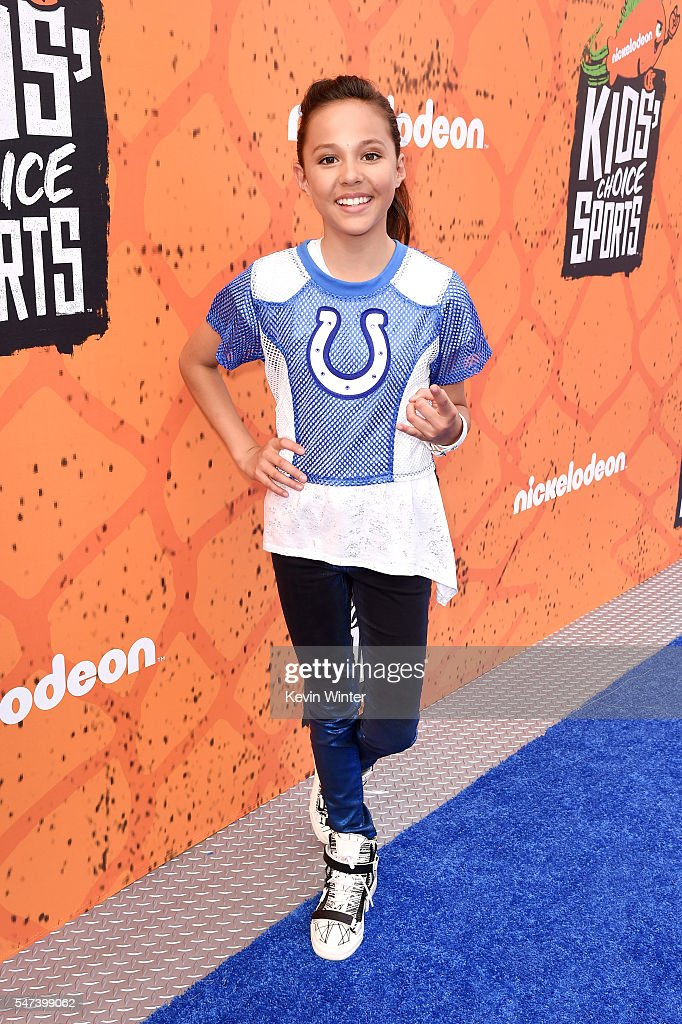 Actress Breanna Yde attends the Nickelodeon Kids' Choice Sports Awards 2016 at UCLA's Pauley Pavilion on July 14, 2016 in Westwood, California.