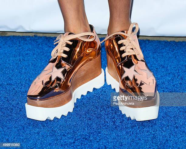 Actress Breanna Yde Shoe Detail attends the The Actors Fund's 2015 Looking Ahead Awards at Taglyan Cultural Complex on December 3 2015 in Hollywood...