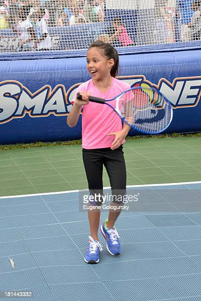 Actress Breanna Yde speaks as kids and families enjoy the activities at Nickelodeon's 10th Annual Worldwide Day of Play in Brooklyn's Prospect Park...