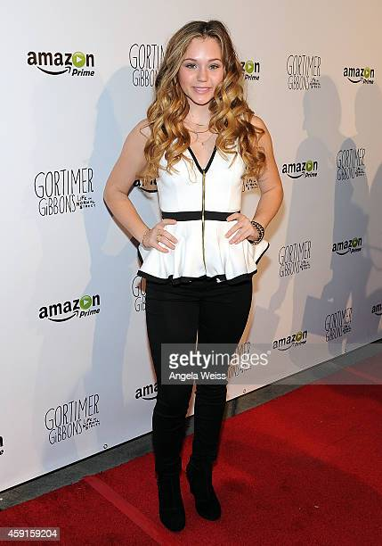 Actress Brec Bassinger arrives for the Los Angeles premiere screening of Amazon Original Series 'Gortimer Gibbon's Life On Normal Street' at ArcLight...