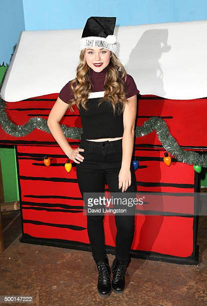 Actress Brec Bassinger attends Knott's Berry Farm's Countdown To Christmas And Snoopy's Merriest Tree Lighting at Knott's Berry Farm on December 5...