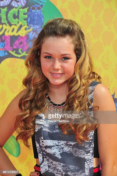 Actress Brec Bassinger attends Nickelodeon's 27th Annual Kids' Choice Awards held at USC Galen Center on March 29 2014 in Los Angeles California