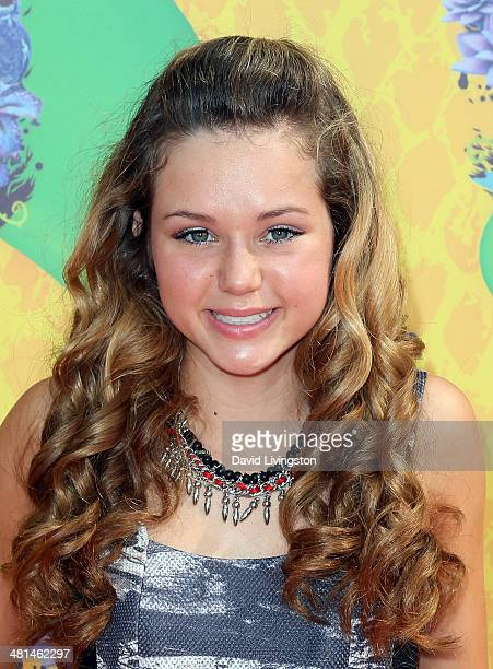 Actress Brec Bassinger attends Nickelodeon's 27th Annual Kids' Choice Awards at USC Galen Center on March 29 2014 in Los Angeles California