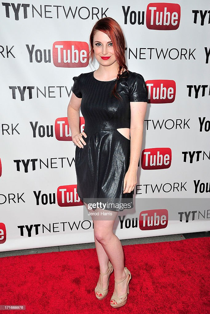 Actress Bree Essrig arrives at YouTube and TYT Network Present the 1st Annual YouTube PRIDE Party Hosted By Dave Rubin at YouTube Space LA on June 27, 2013 in Los Angeles, California.