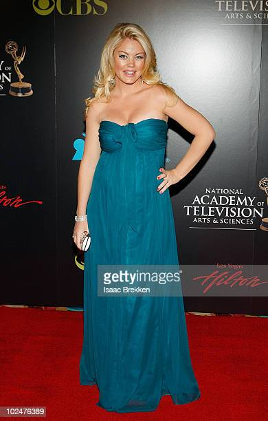 Actress Bree Williamson arrives at the 37th Annual Daytime Entertainment Emmy Awards held at the Las Vegas Hilton on June 27 2010 in Las Vegas Nevada