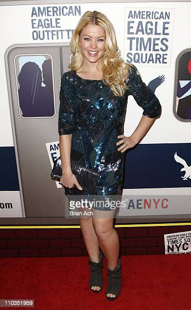Actress Bree Williamson attends the grand opening celebration at American Eagle Outfitters Times Square on November 17 2009 in New York City