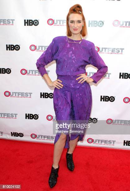 Actress Breeda Wool attends the opening night gala of 'God's Own Country' at the 2017 Outfest Los Angeles LGBT Film Festival at Orpheum Theatre on...