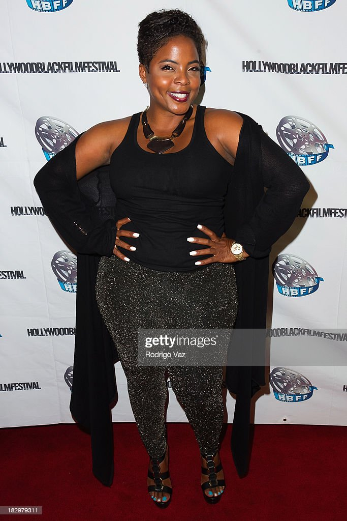 Actress Brely Evans attends the Opening Night for the Hollywood Black Film Festival (HBFF) Arrivals at The Ricardo Montalban Theatre on October 2, 2013 in Hollywood, California.