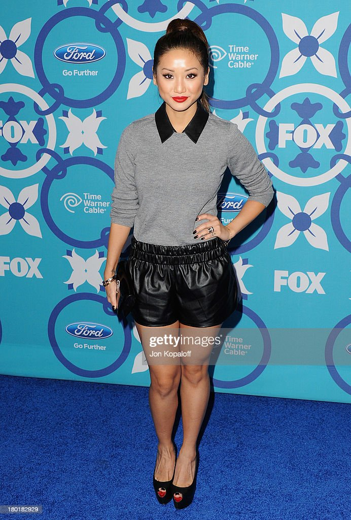 Actress <a gi-track='captionPersonalityLinkClicked' href=/galleries/search?phrase=Brenda+Song&family=editorial&specificpeople=208161 ng-click='$event.stopPropagation()'>Brenda Song</a> arrives at the 2013 Fox Fall Eco-Casino Party at The Bungalow on September 9, 2013 in Santa Monica, California.