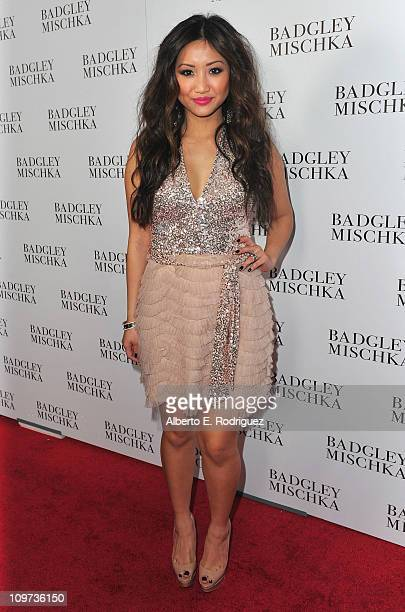 Actress Brenda Song arrives to the opening of the Badgley Mischka Flagship Store on Rodeo Drive on March 2 2011 in Beverly Hills California