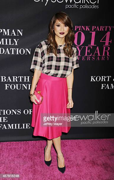 Actress Brenda Song attends Elyse Walker presents the 10th anniversary Pink Party hosted by Jennifer Garner and Rachel Zoe at HANGAR 8 on October 18...