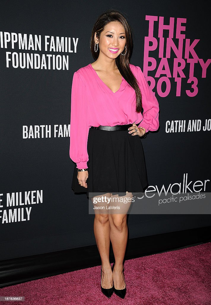 Actress <a gi-track='captionPersonalityLinkClicked' href=/galleries/search?phrase=Brenda+Song&family=editorial&specificpeople=208161 ng-click='$event.stopPropagation()'>Brenda Song</a> attends the 2013 Pink Party at Hangar 8 on October 19, 2013 in Santa Monica, California.