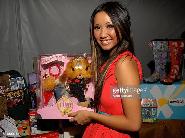 Actress Brenda Song attends the Mattel Celebrity Retreat produced by Backstage Creations at Teen Choice 2008 on August 2 2008 in Universal City...