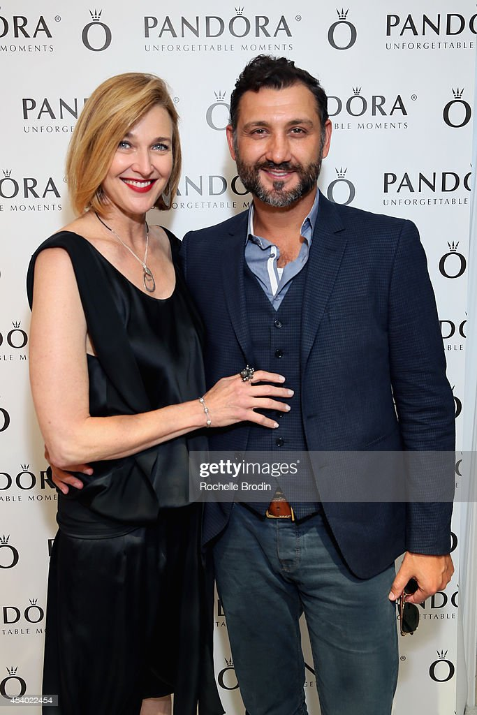 Actress <a gi-track='captionPersonalityLinkClicked' href=/galleries/search?phrase=Brenda+Strong&family=editorial&specificpeople=202892 ng-click='$event.stopPropagation()'>Brenda Strong</a> and Director John Farmanesh-Bocca attend the HBO Luxury Lounge featuring PANDORA at Four Seasons Hotel Los Angeles at Beverly Hills on August 23, 2014 in Beverly Hills, California.