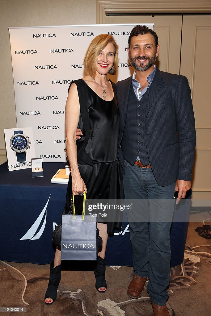 Actress Brenda Strong and Director John Farmanesh-Bocca attend the HBO Luxury Lounge featuring PANDORA at Four Seasons Hotel Los Angeles at Beverly Hills on August 23, 2014 in Beverly Hills, California.
