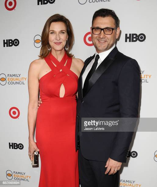 Actress Brenda Strong and husband John FarmaneshBocca attend Family Equality Council's annual Impact Awards at the Beverly Wilshire Four Seasons...