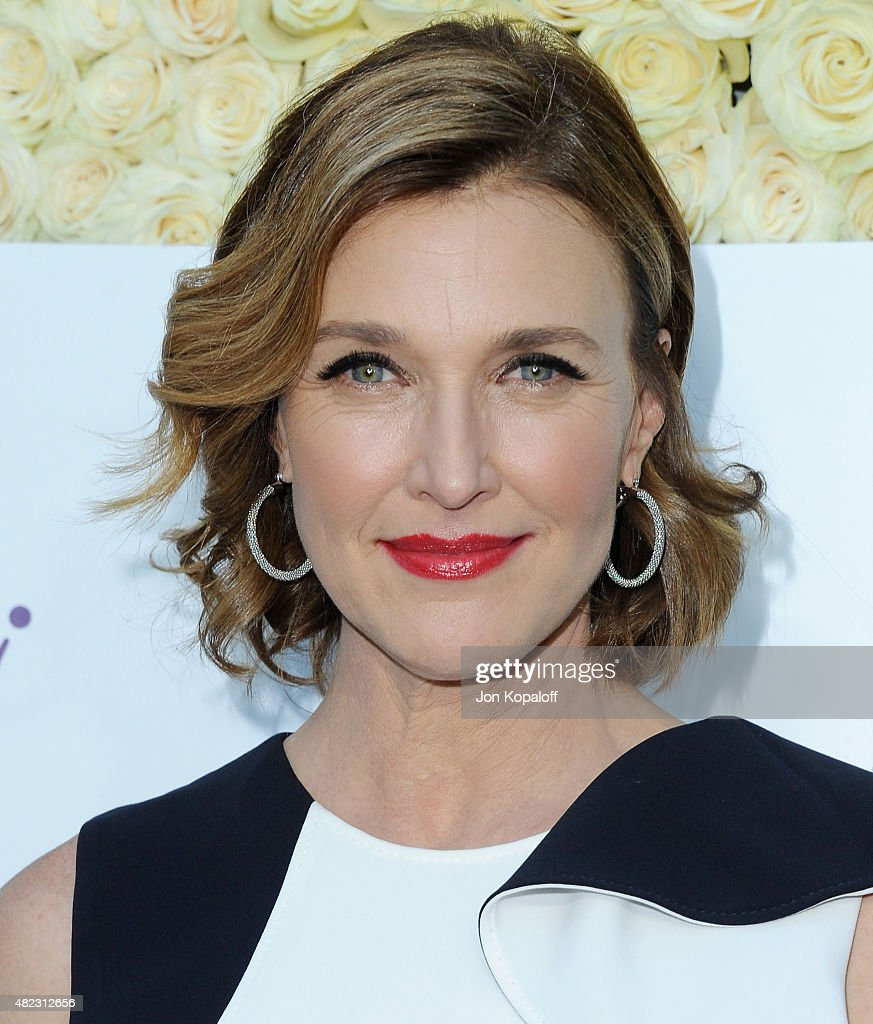 Actress Brenda Strong arrives at 2015 Summer TCA Tour Hallmark Channel and Hallmark Movies And Mysteries on July 29 2015 in Beverly Hills California
