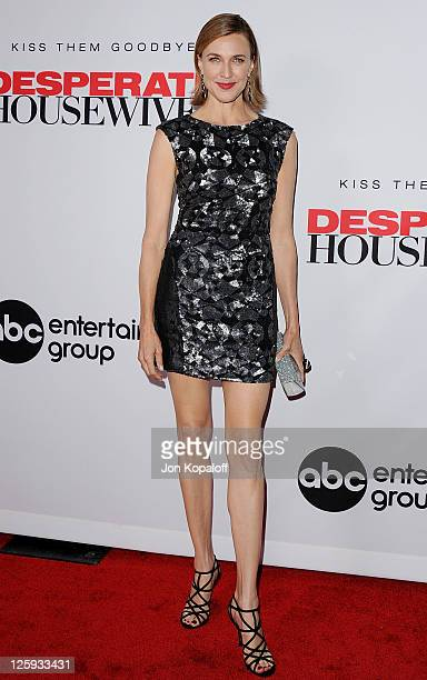 Actress Brenda Strong arrives at Disney ABC Television Group Hosts 'Desperate Housewives' Final Season KickOff Party on September 21 2011 in...