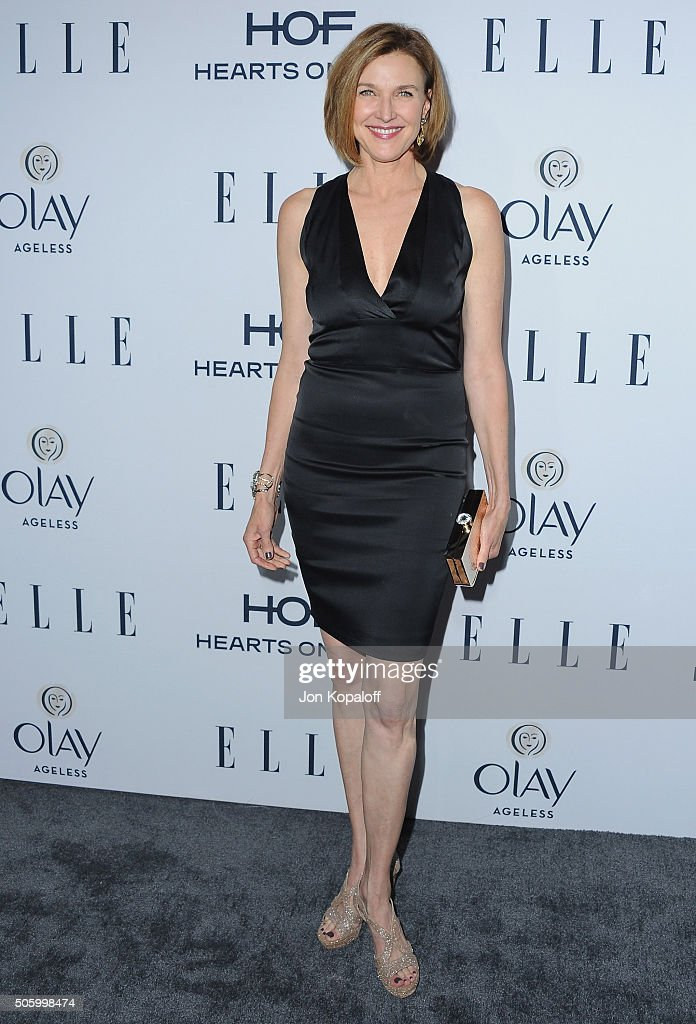 Actress Brenda Strong arrives at ELLE's 6th Annual Women In Television Dinner at Sunset Tower Hotel on January 20, 2016 in West Hollywood, California.