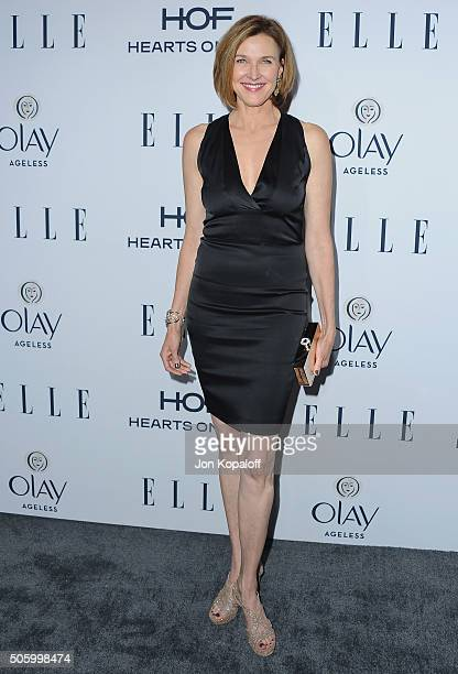 Actress Brenda Strong arrives at ELLE's 6th Annual Women In Television Dinner at Sunset Tower Hotel on January 20 2016 in West Hollywood California