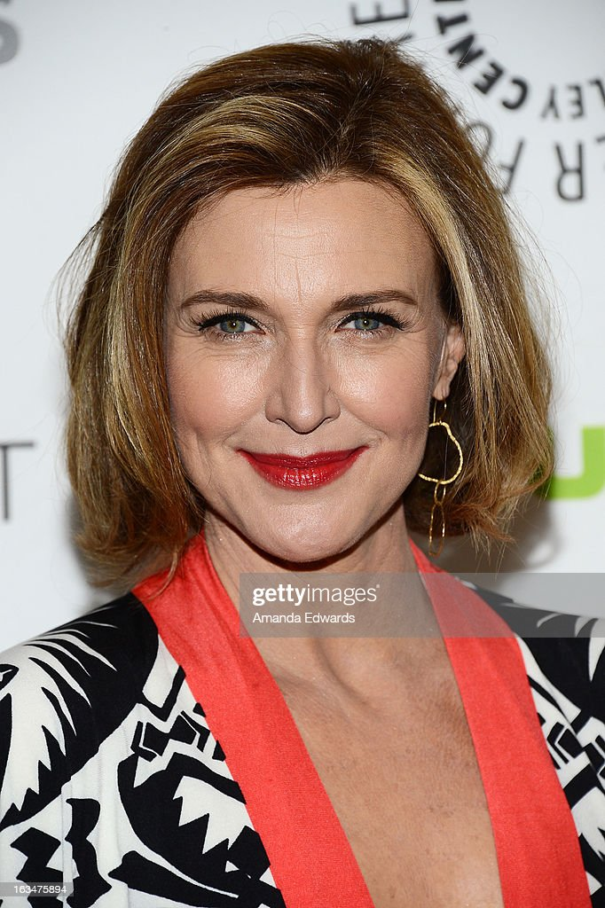Actress Brenda Strong arrives at the 30th Annual PaleyFest: The William S. Paley Television Festival featuring 'Dallas' at Saban Theatre on March 10, 2013 in Beverly Hills, California.