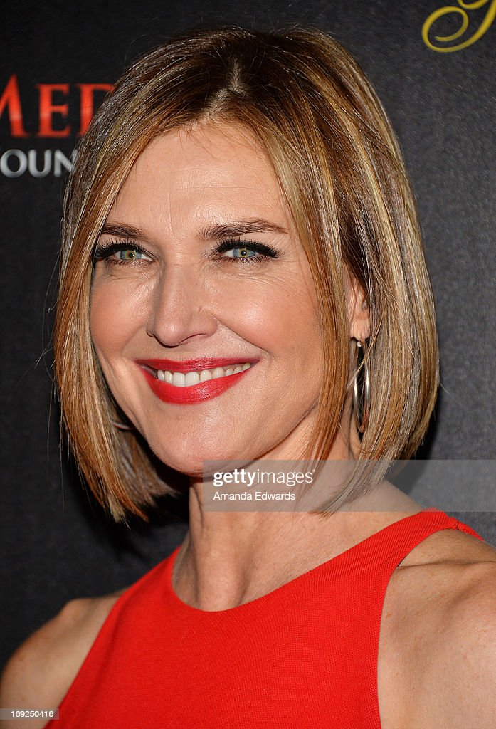 Actress Brenda Strong arrives at the 38th Annual Gracie Awards Gala at The Beverly Hilton Hotel on May 21, 2013 in Beverly Hills, California.