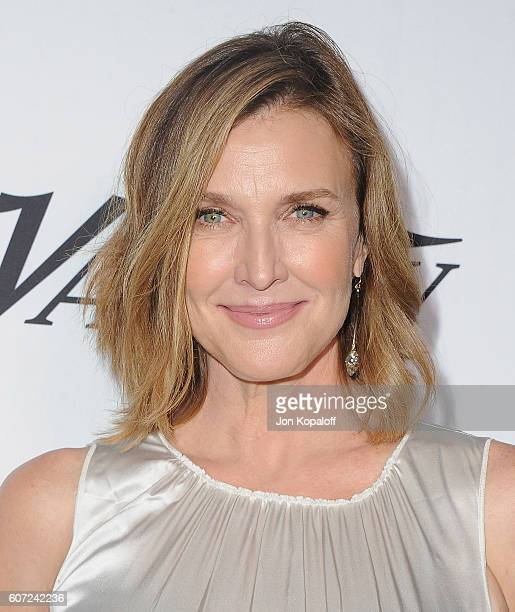 Actress Brenda Strong arrives at Variety And Women In Film's PreEmmy Celebration at Gracias Madre on September 16 2016 in West Hollywood California