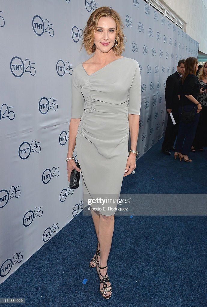 Actress Brenda Strong arrives to TNT's 25th Anniversary Party at The Beverly Hilton Hotel on July 24, 2013 in Beverly Hills, California.