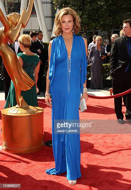 Actress Brenda Strong attends the 2011 Creative Arts Emmy Awards at Nokia Theatre LA Live on September 10 2011 in Los Angeles California